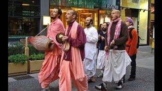 Hare Krishna People Singing In Union Square Park New York City