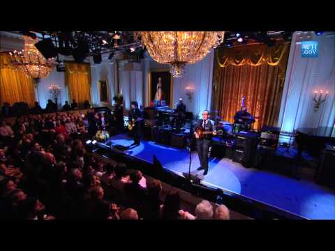 Elvis Costello performs