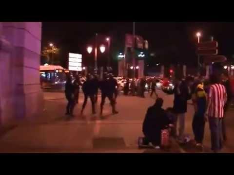 Столкновение c полицией после матча  «Реал» - «Атлетико»