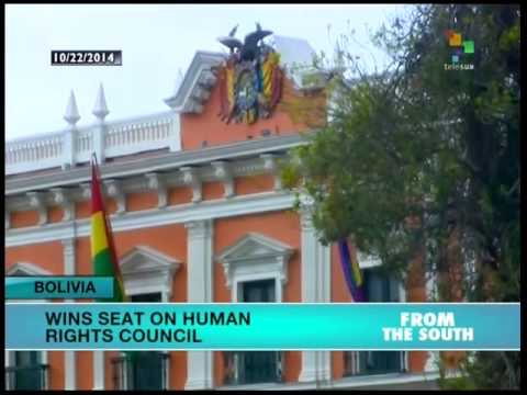 Bolivia gains seat on UN Human Rights Council