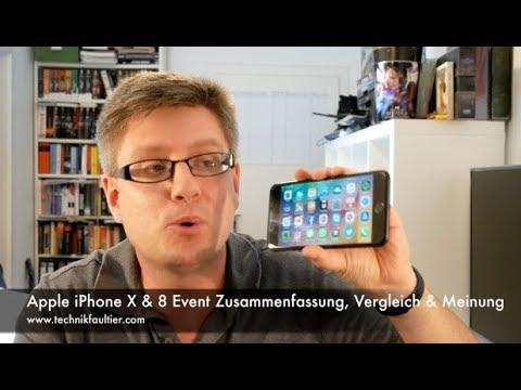 Apple iPhone X & 8 Event Zusammenfassung, Vergleich & Meinung