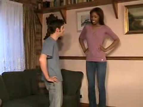 tall woman small man