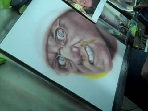 Airbrush Speed Painting of Craig Fraser