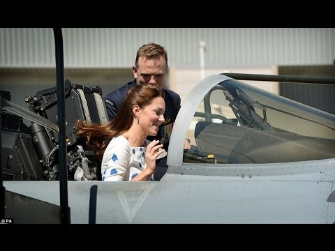 Kate and William get settled in the cockpit