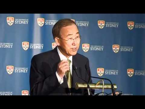UN Secretary-General Ban Ki-moon Address at University of Sydney Sept. 8, 2011