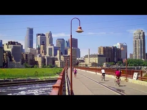 USA BEAUTIFUL DOWNTOWN MINNEAPOLIS MINNESOTA  ! TWIN CITIES MOST AMAZING TRAVEL MINNESOTA