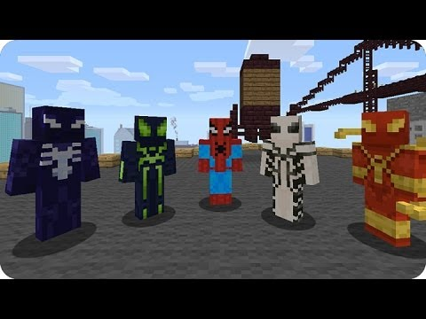MineCraft Xbox360 PS3 - Analisis Marvel Spiderman Skin Pack