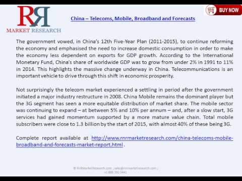 China Telecoms Market Forecast  to 2018 with Demand Analysis