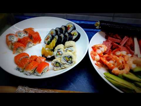 Готовим и пробуем домашние суши - роллы 를 준비하려고 집에서 초밥