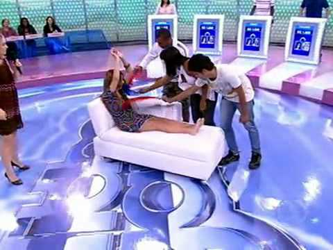 Game show girl gets tickled Video