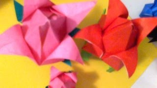 Easy Step ..origami Tulip