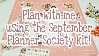 Plan with me using the September Planner Society kit | Planning With Eli