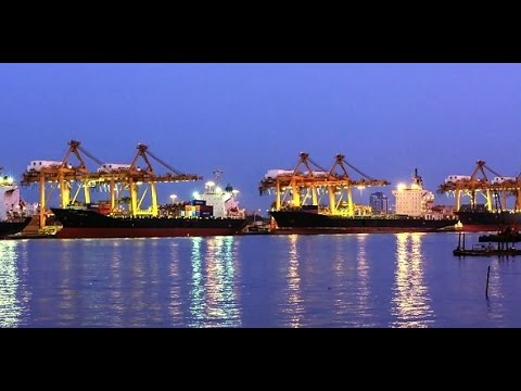 Cargo Ship at Twilight | Stock Footage - Videohive