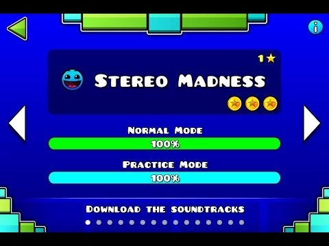 Geometry Dash - Level 1:Stereo Madness (All Coins)
