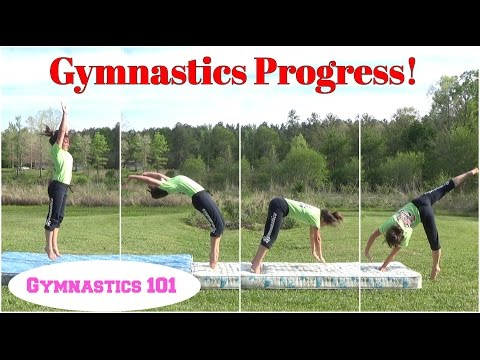 Practice Makes Progress! | Gymnastics Progress With Round-Off Back-handsprings | Gymnastics 101