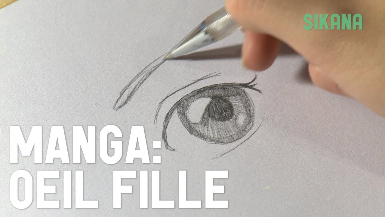 Manga dessiner un oeil de fille hd youtube - Dessiner fille manga ...