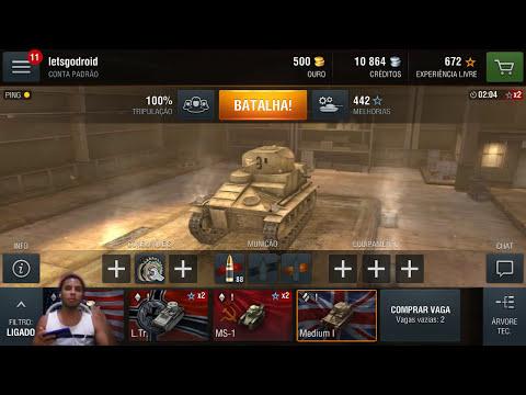 World of Tanks Blitz no Android - O forninho caiu! (Jogos de tiro para android)