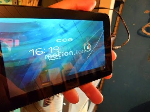 Como trocar o touch do tablet cce motion tr71
