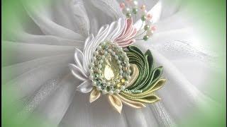 DIY satin ribbon brooch, Lerita
