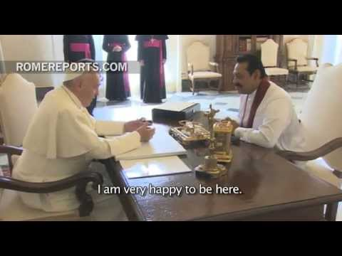 Sri Lanka's president meets with the Pope at the Vatican