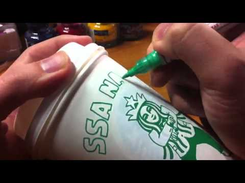 STARBUCKS Cup Art - Ssa Na Eh~: Gangnam Style (강남스타일) dedicated to PSY