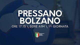 Serie A1M [1^ giornata]: Pressano - Bolzano 21-26