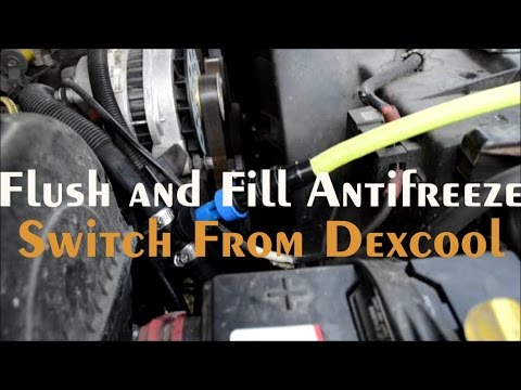 How to FLUSH and CHANGE Radiator Coolant ~ Switch From Dexcool to Peak Global Antifreeze