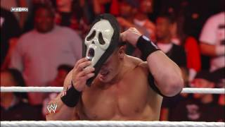 A horror movie icon attacks John Cena Raw Oct 31 2011
