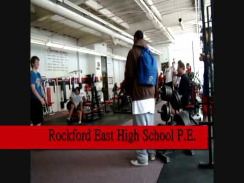 RockFord East High School P.E. Weight Room