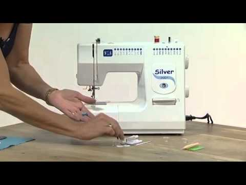 Silver 2001 Sewing Machine Demonstration