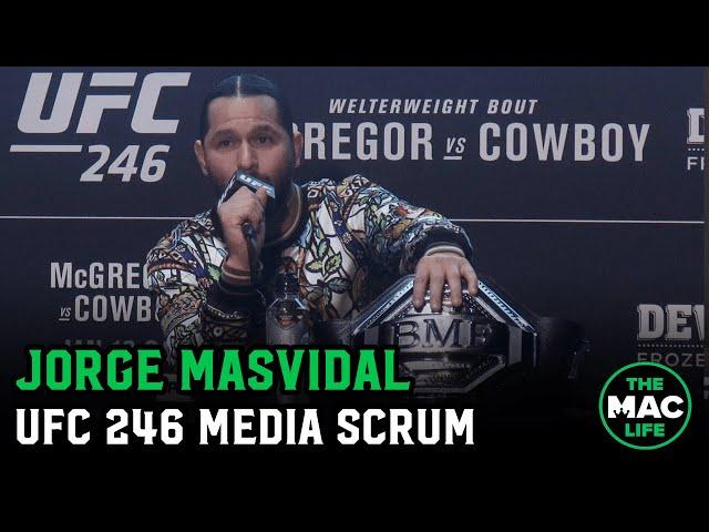 Jorge Masvidal talks Conor McGregor, Kamaru Usman and predicts UFC 246 Main Event thumbnail