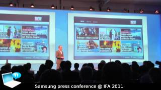 Samsung press conference @ IFA 2011