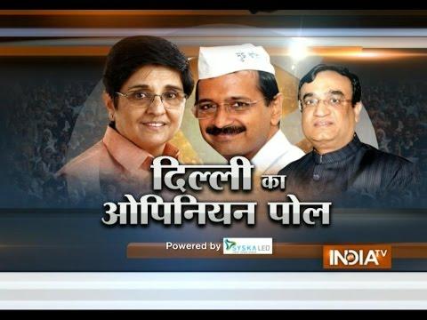 BJP may get majority in Delhi polls, says India TV-CVoter latest opinion poll (Part 1) - Ajit Anjum