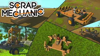 5 Silly Vehicles in Scrap Mechanic!
