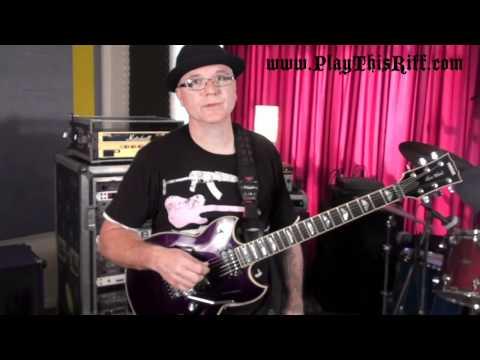 CHRIS POLAND (ex-MEGADETH) Guitar Lesson for PlayThisRiff.com
