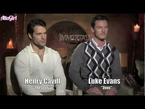 Immortals interviews with Henry Cavill & Luke Evans