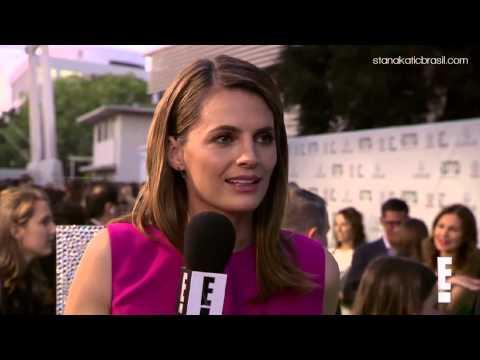 Stana Katic @ Environmental Media Association Awards 2014 - Green Carpet