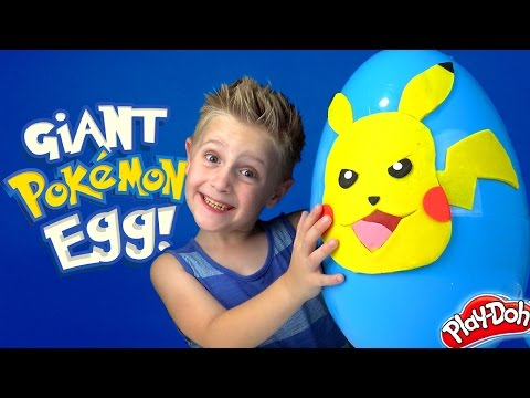Pokemon GIANT Play-doh Surprise Egg with Ash and Pikachu Arena Unboxing and ToysReview by KID CITY