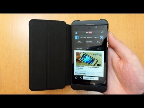 Blackberry Z10 Case - Official Z10 Flip Shell Case Review - ACC-49284-201
