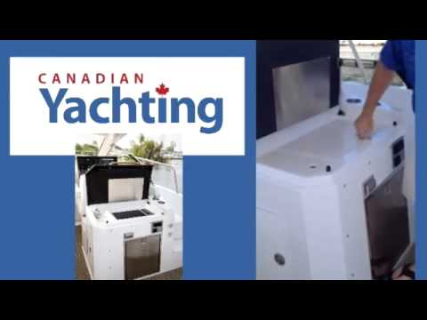 Cruisers Yachts' Jon Viestenz on the 390 Express Coupe with Canadian Yachting