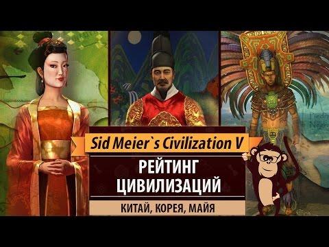 Рейтинг цивилизаций в Sid Meier's Civilization V: Китай, Корея, Майя