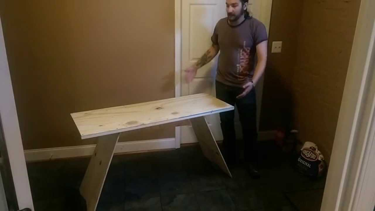 Simple Modern Plywood Desk