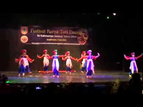 Festival Karya Tari Daerah 2014 - Kotabaru video
