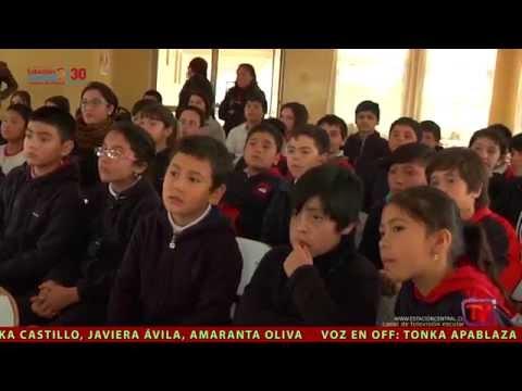 CENTRAL NOTICIAS 19 Fundación Real Madrid, Donación Biblioteca Nacional Simce Escuela Japón
