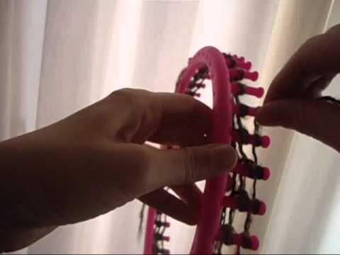 Bufanda mágica en telar circular - maya