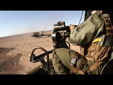 UH-1Y Huey Helicopter Aerial Gun Shoot - M134 minigun and GAU-21 machine gun | AiirSource