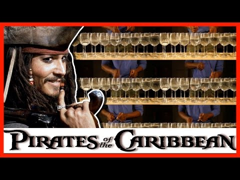 Pirates of the Caribbean on Wine Glasses