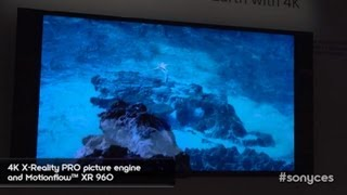 CES 2013_ New Sony's 4K TVs ( BRAVIA X900A Series 4K Ultra HD TV) First Look