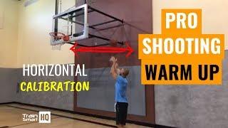 The Warmup Top NBA Shooting Coaches Taught Me | Horizontal Calibration | Train Smart