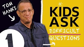 """I do hate SOME kids?!"": Kids Ask Tom Hanks Difficult Questions"